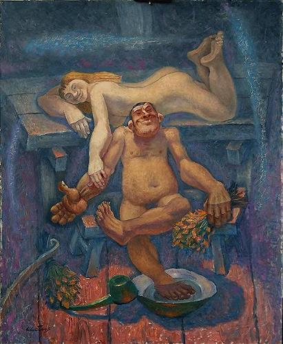 Evgeniy Shibanov, Russian Bath, Abstraktes, Abstrakter Expressionismus