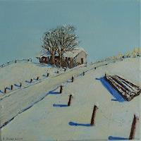 Rainer-Jaeckel-Landschaft-Winter-Landschaft-Berge-Gegenwartskunst-Gegenwartskunst