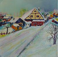 Rainer-Jaeckel-Landschaft-Winter-Diverse-Landschaften-Moderne-Expressionismus-Neo-Expressionismus