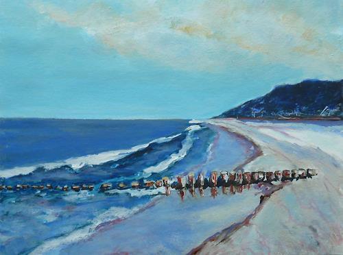 Rainer Jäckel, Buhne 7, Landschaft: See/Meer, Landschaft: Strand, expressiver Realismus