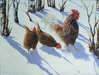 Rainer-Jaeckel-Landschaft-Winter-Tiere-Land-Neuzeit-Realismus
