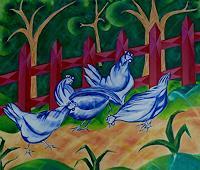 Rainer-Jaeckel-Tiere-Land-Wohnen-Garten-Moderne-Kubismus