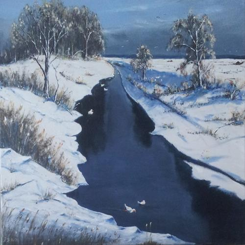 Rainer Jäckel, O/T, Landschaft, Natur: Wasser, Land-Art, Expressionismus
