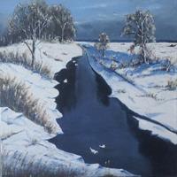 Rainer-Jaeckel-Landschaft-Natur-Wasser-Gegenwartskunst-Land-Art