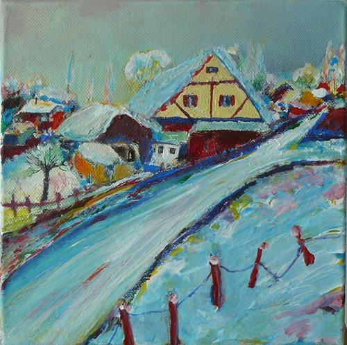Rainer Jäckel, O/T, Landschaft: Winter, Abstrakte Kunst, Expressionismus