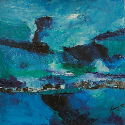 Albert Enz, Côte écossaise, Abstraktes, Landschaft: See/Meer, Abstrakter Expressionismus