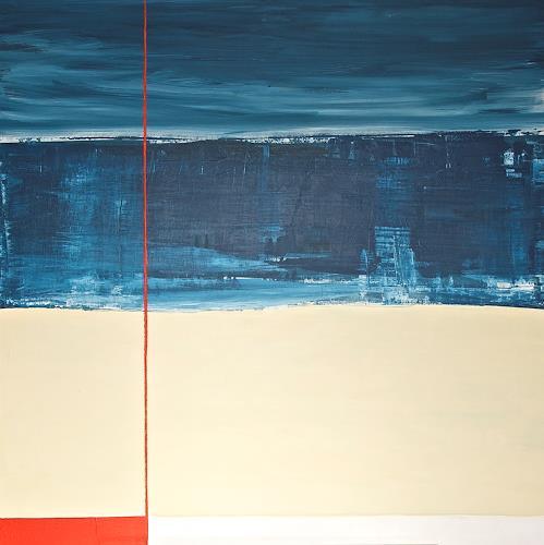 Imke Kreiser, Cutting Red, Abstraktes, Landschaft: Strand, Gegenwartskunst, Abstrakter Expressionismus