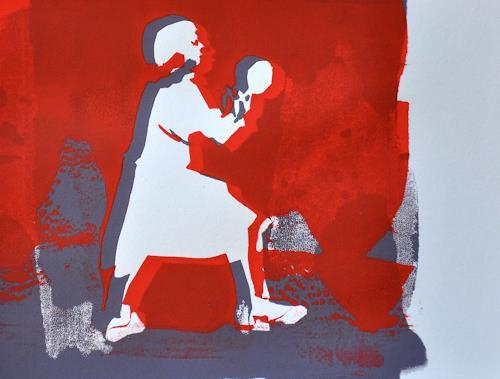 Imke Kreiser, Playing with my Skull, Diverse Menschen, Bewegung, Gegenwartskunst, Abstrakter Expressionismus