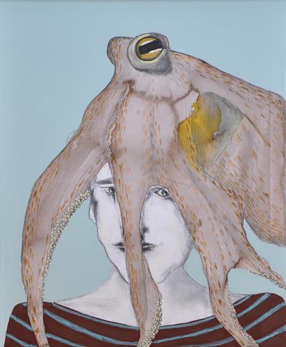 Imke Kreiser, Hush!, Menschen: Porträt, Skurril, Gegenwartskunst, Abstrakter Expressionismus