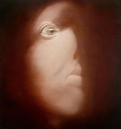 G.J.B., Kopfstudie II, Menschen: Gesichter, Poesie, Gegenwartskunst, Abstrakter Expressionismus