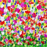 Hanni-Smigaj-Natur-Pflanzen-Blumen-Moderne-Expressionismus-Abstrakter-Expressionismus