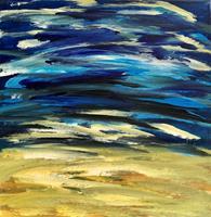 Hanni-Smigaj-Landschaft-See-Meer-Abstraktes-Moderne-Abstrakte-Kunst-Informel