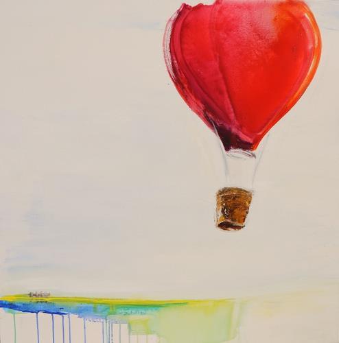 art ilse schill, to the sky, Landschaft, Dekoratives, Moderne, Abstrakter Expressionismus