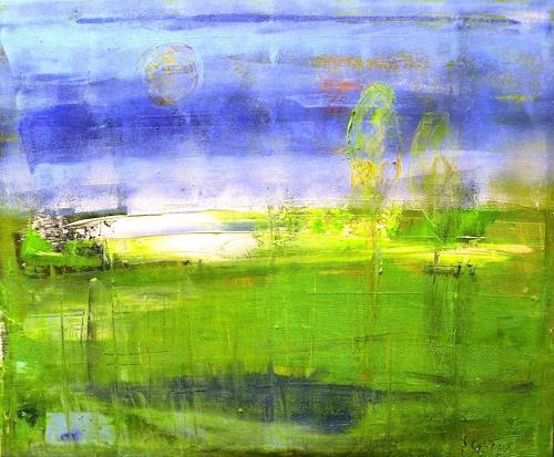 art ilse schill, my world, Abstraktes, Landschaft, Moderne, Expressionismus