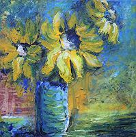 art ilse schill, sunflowers