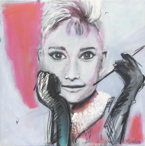 art ilse schill, Audrey, Menschen, Dekoratives, Gegenwartskunst