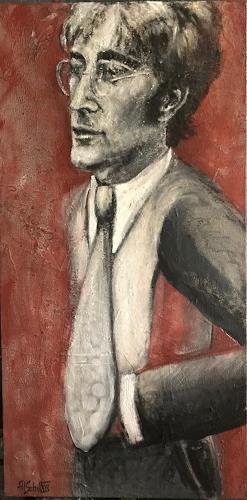 art ilse schill, john lennon, Menschen, Abstrakte Kunst