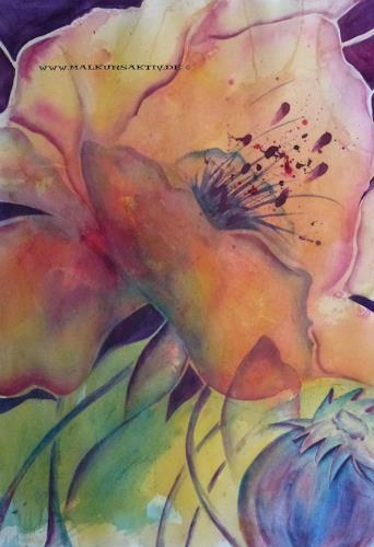 Brigitte Spöhr, Blüte mit Mohn, Dekoratives, Natur: Diverse, Andere