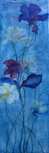 Brigitte Spöhr, Blick zur Unendlichkeit, Pflanzen: Blumen, Fantasie, Gegenwartskunst