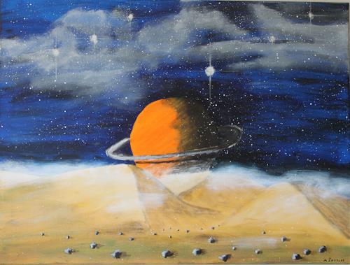 Michaela Zottler, Saturn, Weltraum: Mond, Konkrete Kunst