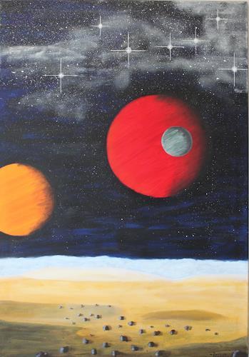 Michaela Zottler, 3 Monde, Weltraum: Mond, Konkrete Kunst