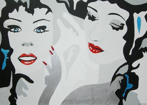 Michaela Zottler, Red Lips, Menschen: Frau, Menschen: Porträt, Pop-Art, Expressionismus