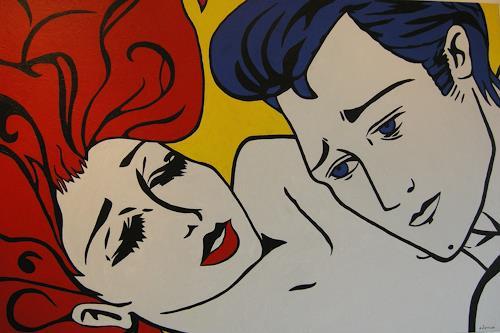Michaela Zottler, Leidenschaft, Menschen: Paare, Menschen: Gesichter, Pop-Art