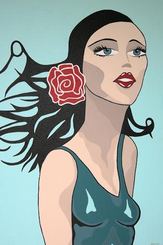Michaela Zottler, Spanische Schönheit, Menschen: Frau, Menschen: Gesichter, Pop-Art, Expressionismus