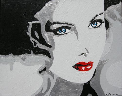 Michaela Zottler, Silver Face, Menschen: Frau, Menschen: Porträt, Pop-Art, Expressionismus