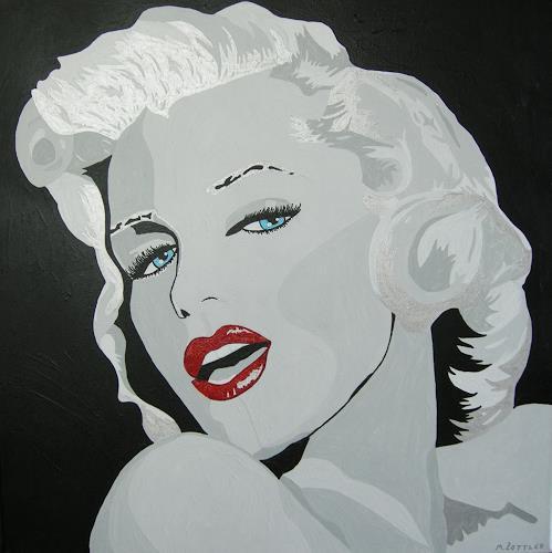 Michaela Zottler, Marilyn, Menschen: Frau, Menschen: Porträt, Pop-Art, Expressionismus
