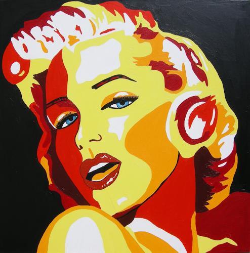 Michaela Zottler, Marilyn, Menschen: Frau, Menschen: Porträt, Pop-Art, Abstrakter Expressionismus