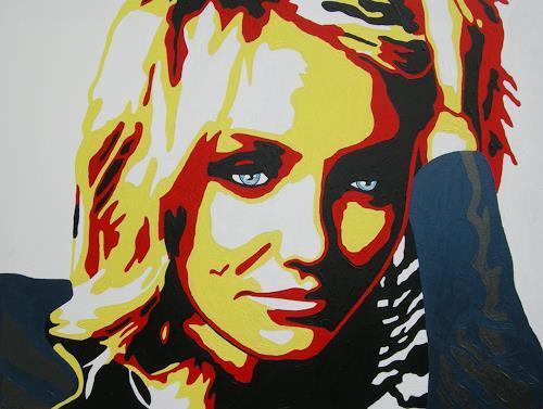 Michaela Zottler, Cameron Diaz, Menschen: Frau, Menschen: Porträt, Pop-Art, Abstrakter Expressionismus