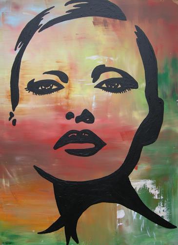 Michaela Zottler, Black Girl, Menschen: Frau, Menschen: Porträt, Pop-Art, Abstrakter Expressionismus