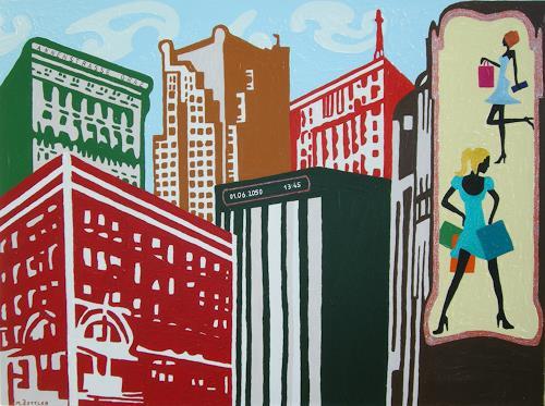 Michaela Zottler, City Life, Wohnen: Stadt, Architektur, Pop-Art