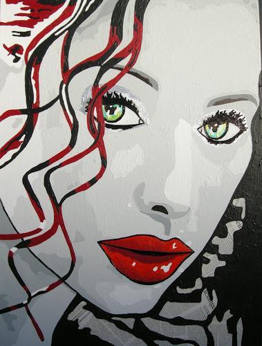Michaela Zottler, Curly Sue, Menschen: Frau, Menschen: Porträt, Pop-Art, Abstrakter Expressionismus