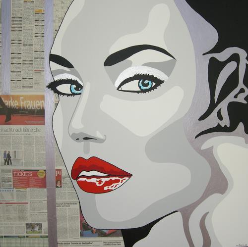 Michaela Zottler, Starke Frauen, Menschen: Frau, Menschen: Porträt, Pop-Art, Expressionismus