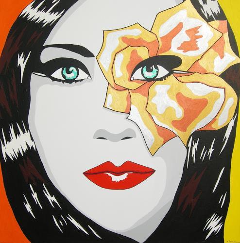 Michaela Zottler, Eyeflower, Menschen: Frau, Menschen: Porträt, Pop-Art