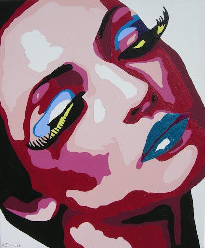 Michaela Zottler, Purple dream, Menschen: Frau, Menschen: Porträt, Pop-Art