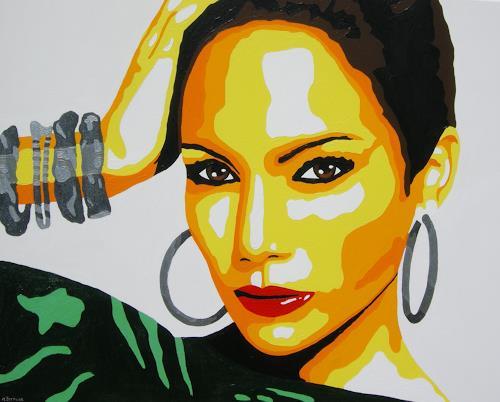 Michaela Zottler, Jennifer Lopez, Menschen: Frau, Menschen: Porträt, Pop-Art, Abstrakter Expressionismus