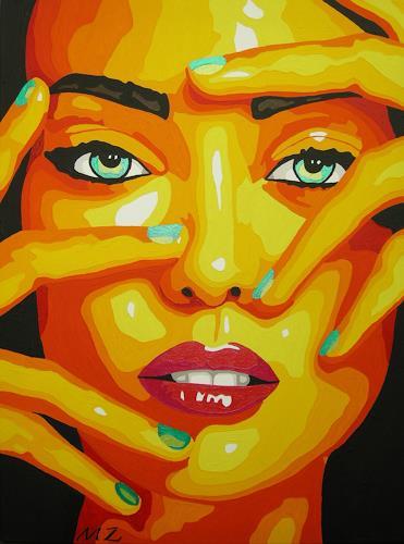Michaela Zottler, Orange beauty, Menschen: Frau, Menschen: Porträt, Pop-Art