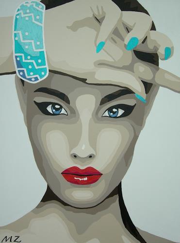 Michaela Zottler, Fashion girl, Menschen: Frau, Menschen: Porträt, Pop-Art, Expressionismus
