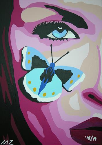 Michaela Zottler, Butterfly girl, Menschen: Frau, Menschen: Porträt, Pop-Art