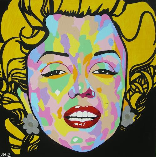 Michaela Zottler, Funky Marilyn, Menschen: Frau, Menschen: Porträt, Pop-Art, Abstrakter Expressionismus