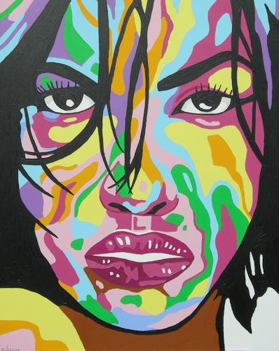 Michaela Zottler, Funky face, Menschen: Frau, Menschen: Porträt, Pop-Art