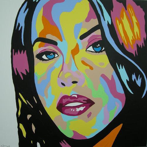 Michaela Zottler, Funky girl, Menschen: Frau, Menschen: Porträt, Pop-Art