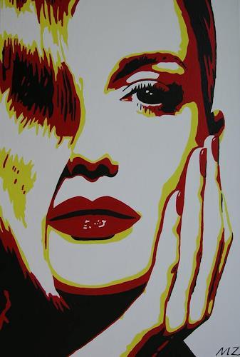 Michaela Zottler, Light in wave, Menschen: Frau, Menschen: Porträt, Pop-Art, Expressionismus
