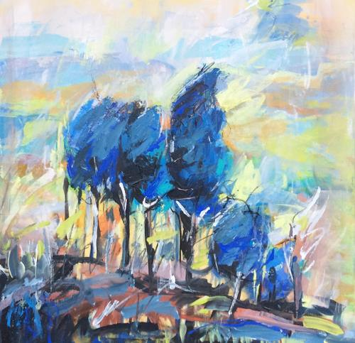 miro sedlar, trees, Landschaft: Herbst, Abstrakter Expressionismus