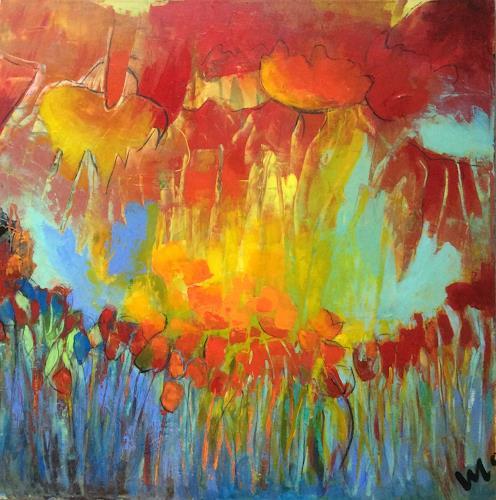 miro sedlar, garden of paradise, Diverse Pflanzen, Art Déco, Expressionismus