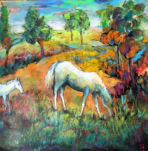 miro sedlar, pasture, Tiere: Land, Abstrakte Kunst