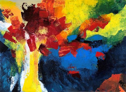 miro sedlar, Still life with flowers, Abstraktes, Abstrakte Kunst